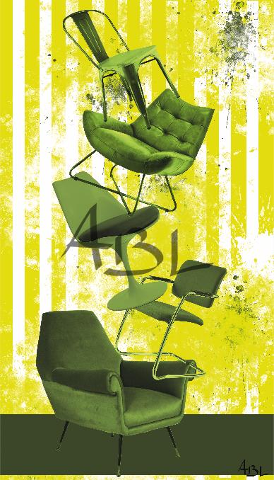 Les chaises  40x70cm