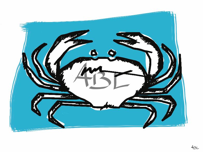 Le crabe  60x45cm
