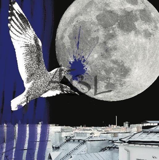 La lune  80x80cm