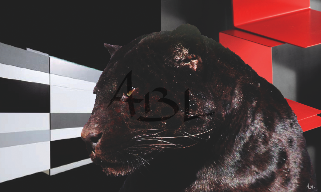 La panthère noire  100x60cm