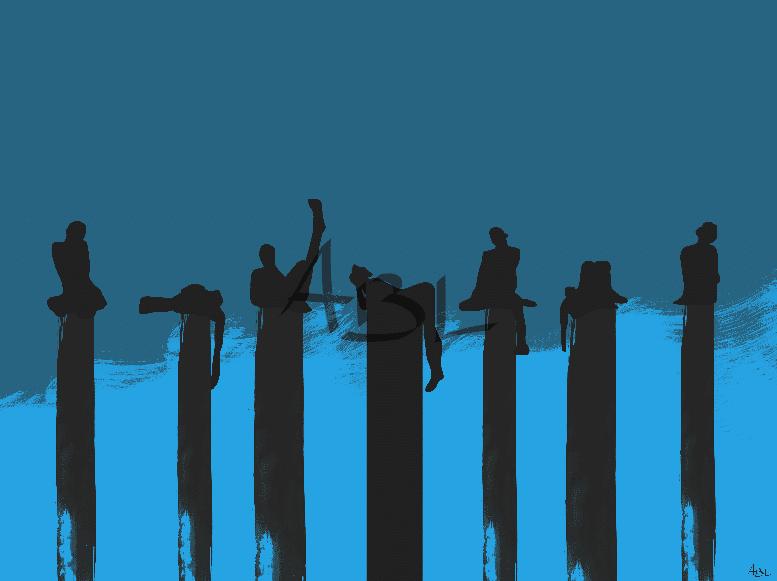 Meditation bleue   80x60cm