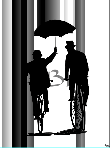 """""""Sous la pluie"""" 60x80 cm"""