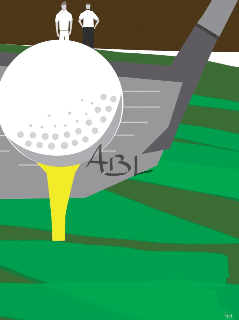 Golf  60X80cm